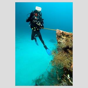 Diver exploring the Cross Wreck