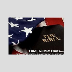 Gods Guts & Guns Rectangle Magnet
