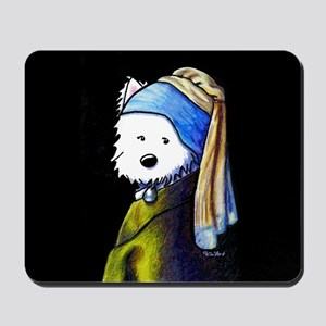 Westie With Pearl Earring Mousepad