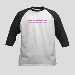 2 boobs pink Baseball Jersey