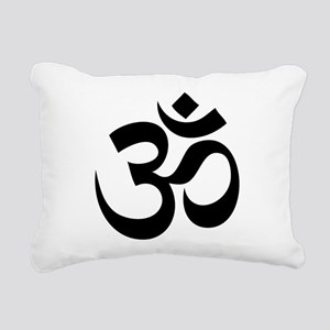 om Rectangular Canvas Pillow