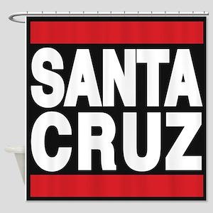 santacruz red Shower Curtain