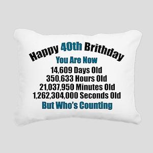 40th Birthday T-shirt Rectangular Canvas Pillow
