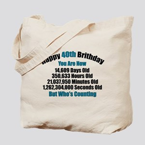 40th Birthday T-shirt Tote Bag