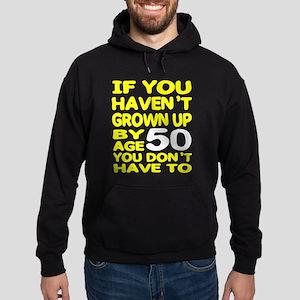 Grown Up by 50 Hoodie (dark)