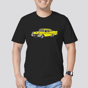 1958 Ford Fairlane 500 Yellow Men's Fitted T-Shirt