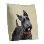 Scottish Terrier Burlap Throw Pillow
