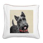 Scottish Terrier Square Canvas Pillow