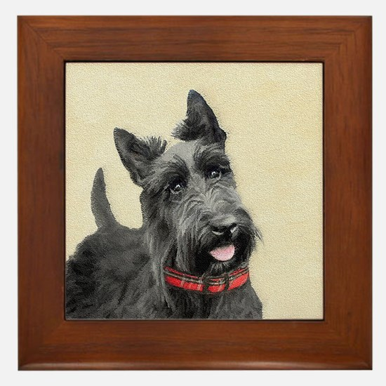 Scottish Terrier Framed Tile