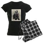 Scottish Terrier Women's Dark Pajamas