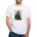 Scottish Terrier White T-Shirt