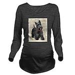 Scottish Terrier Long Sleeve Maternity T-Shirt