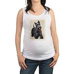 Scottish Terrier Maternity Tank Top
