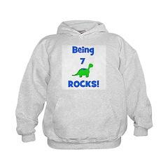 Being 7 Rocks! Dinosaur Hoodie