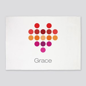 I Heart Grace 5'x7'Area Rug