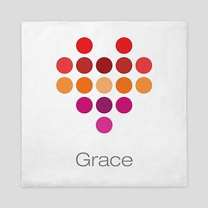 I Heart Grace Queen Duvet