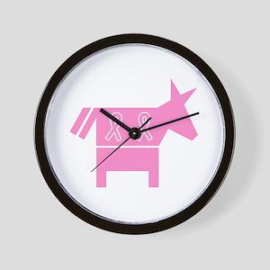 Pink Donkey Wall Clock