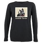 Scottish Terrier Plus Size Long Sleeve Tee