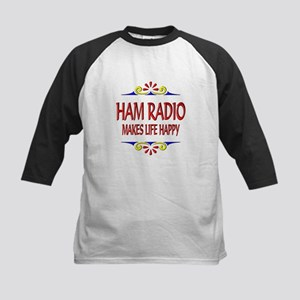 Ham Radio Life Happy Kids Baseball Jersey