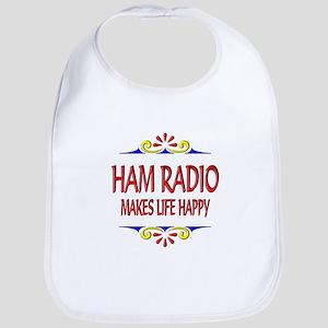 Ham Radio Life Happy Bib