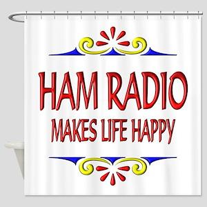 Ham Radio Life Happy Shower Curtain