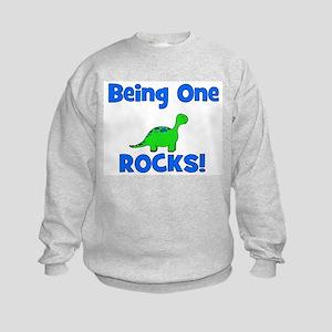 Being One Rocks! Dinosaur Kids Sweatshirt