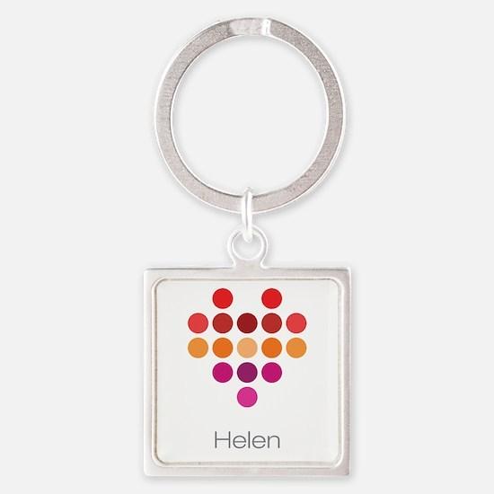I Heart Helen Square Keychain