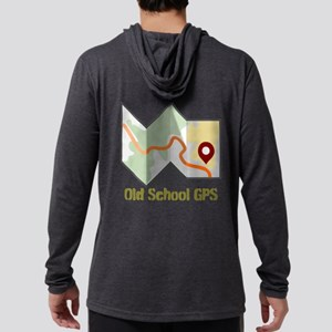 Old School GPS Mens Hooded Shirt