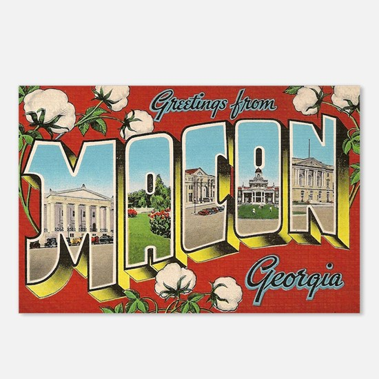 Greetings from Macon Geor Postcards (Package of 8)