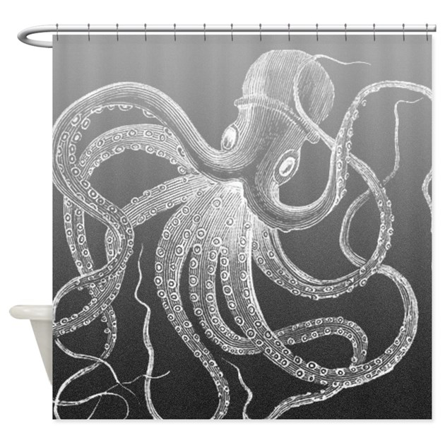 Sea Monster Shower Curtain By Cheriverymery
