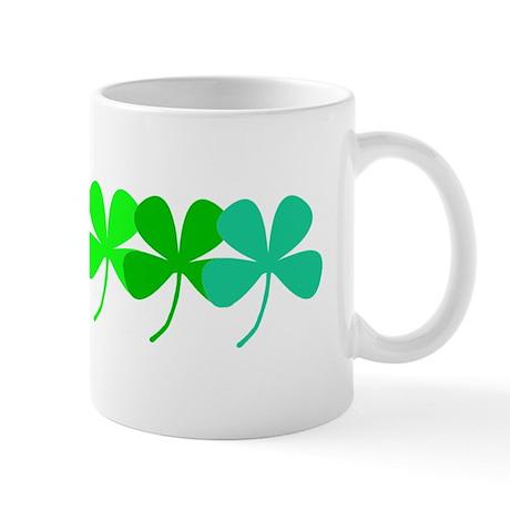 Irish Green 4 Leaf Clovers St. Patricks Day Mug