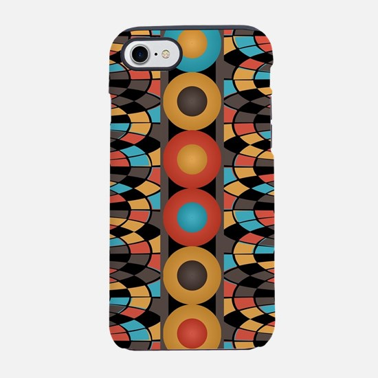Colorful geometric composition iPhone 7 Tough Case