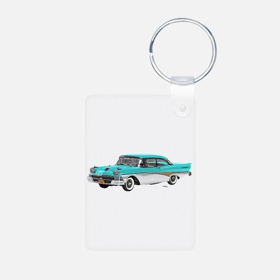 1958 Ford Fairlane 500 Light Blue & White Keychains