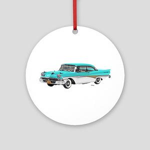 1958 Ford Fairlane 500 Light Blue & White Ornament
