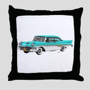 1958 Ford Fairlane 500 Light Blue & White Throw Pi