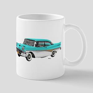 1958 Ford Fairlane 500 Light Blue & White Mug