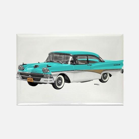1958 Ford Fairlane 500 Light Blue & White Rectangl