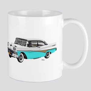 1958 Ford Fairlane 500 White & Light Blue Mug