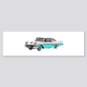 1958 Ford Fairlane 500 White & Light Blue Sticker