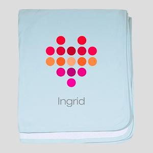 I Heart Ingrid baby blanket