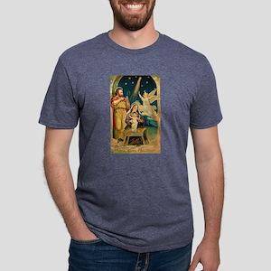 Christmas Nativity Scene Mens Tri-blend T-Shirt