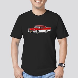 1958 Ford Fairlane 500 Red & White Men's Fitted T-