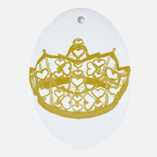 Second Heart Crown by Kristie Hubler Ornament (Ova