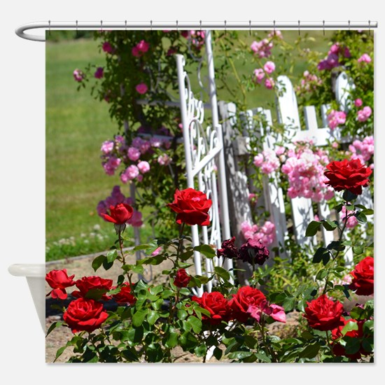 Gated Rose Garden Shower Curtain