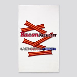 Bacon 4P Lard Bless America 3'x5' Area Rug