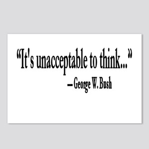 Thinking Unacceptable Postcards (Package of 8)