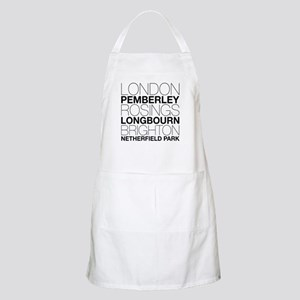 Pride and Prejudice Locations Apron