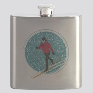 Nordic Ski Girl Flask