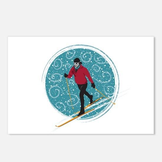 Nordic Ski Girl Postcards (Package of 8)