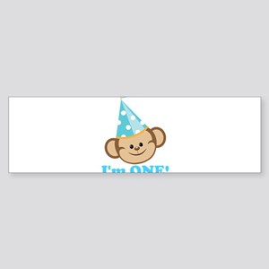 First Birthday Monkey Bumper Sticker